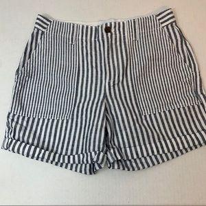 Gap Striped Linen Blend Shorts